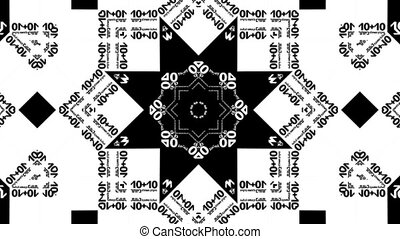 kaleidoscope b&w loop