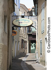Streetview in the Provence - Small street in a little...