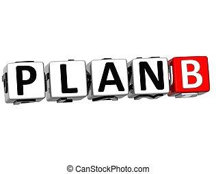 3D Plan B Crossword