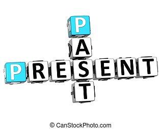 3D Past Present Crossword