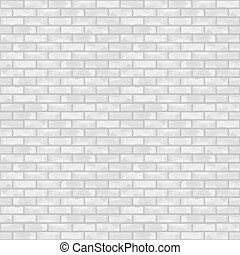 Seamless white brick wall, vector eps10 illustration