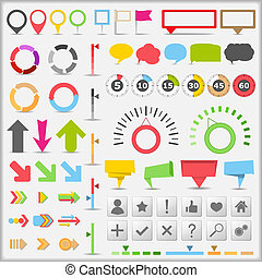 Infographic elements - Set of different infographic...