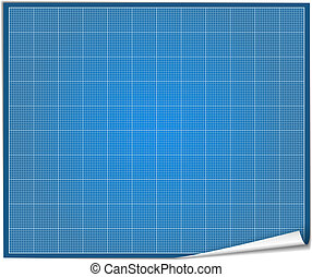 Blank blueprint paper, vector eps10 illustration