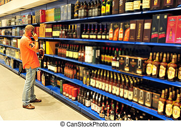Liquor Store - Liquor store selling alcohol and wine