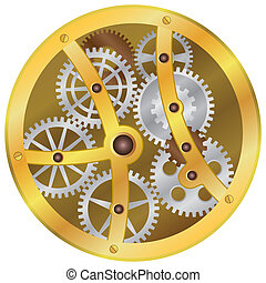 Mechanism. - Image of mechanism with gear wheels on the...