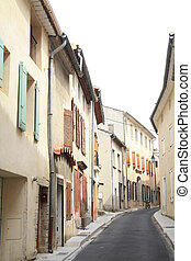 Streetview in the Provence - Narrow street in a small...