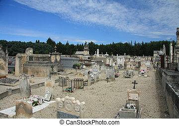 Old cemetery in the Provence, France
