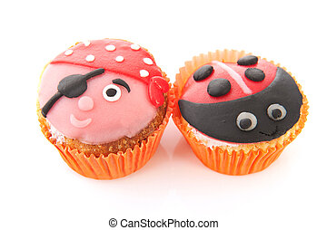 Cupcakes with child decoration - Colorful cupcakes with...