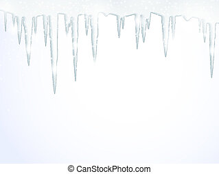 The icicles - Background with hanging icicles. Eps 10