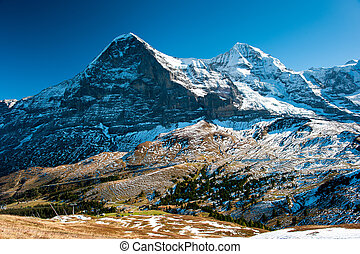 Panorama of Eiger and Monch