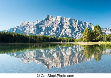 Mount Rundle from Cascade Ponds Banff National Park, Canada