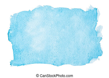 Watercolor background - Abstract blue watercolor background....