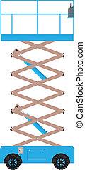 Scissor Lift Platform - A Blue Scissolift Platform Extended