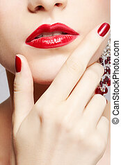 beautiful woman's manicure