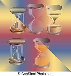Decorative hourglass