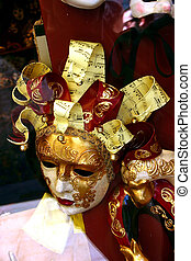 Venetian music mask - Venetian mask with musical notes
