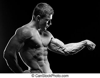 Bodybuilder - The beautiful and strong young guy