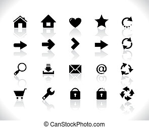 Black icons for web
