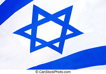 Israel Flag - Close up of Israel national flag