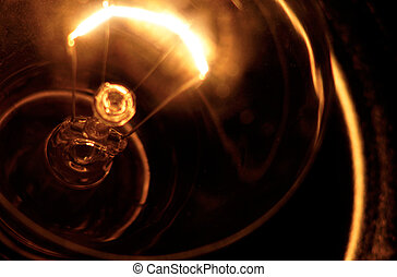 Old light bulb. - Close up of light bulb.