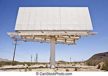 Old Blank Desert Billboard - Old blank billboard in the...