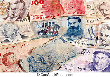 Old Israeli Banknotes - Selection of old Israeli banknotes...