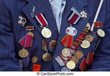 guerra, medalhas