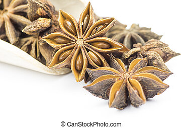 Star anise - Wooden shovel with star anise
