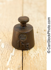 Old one hectograms weight