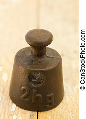 Old two hectograms weight