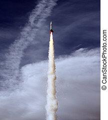 Rocket Launch - A Model Rocket Launch