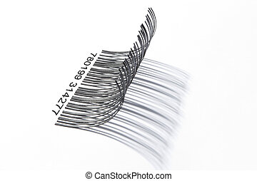 Eyelashes barcode from side - Taken from side almost the...