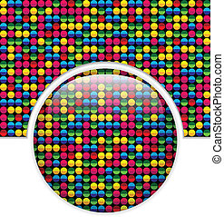 Glass Circle Button Colorful Dots