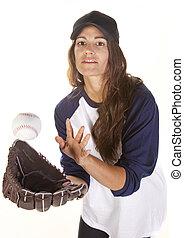 Woman Baseball or Softball Player C - Woman baseball or...