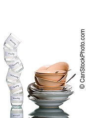 All of dirty dishes in six days - All dishes including...