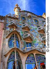 Barcelona, españa, -, febrero, 25:, Casa, batllo,...