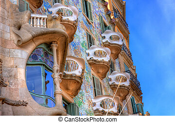 BARCELONA, SPAIN - FEBRUARY 25: Casa Batllo on February 25,...
