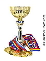 esportes, medalhas, troféu