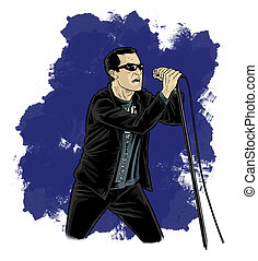 Cartoon - Comic Style Singer - Thats an artwork representing...