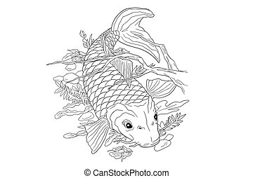 Koi Carp Tattoo - An artwork representing a koi carp