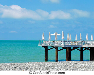 picturesque pier view overlooking sea