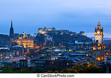 Edinburgh Scotland Cityscape - Edinburgh Cityscape and...