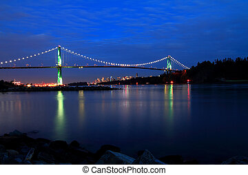 Vancouver - A colorful image of Vancouvers Lions Gate Bridge...