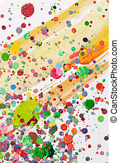 colorful paint splatter - different colors of paints...