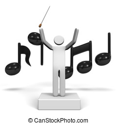 MusicalConductorAndMusicalNote - Musical Conductor And...