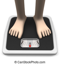WeighingMachineAndFeetFrontView - Weighing Machine And Feet...