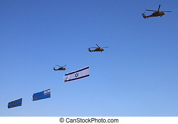 Israel Air Force - Air Show - Israeli Air Force helicopters...