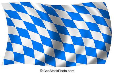 bavaria flag in wave