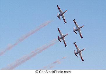 Israel Air Force - Air Show - An air show takes place during...