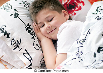 el, niño, era, dormido, almohada, chino, caracteres